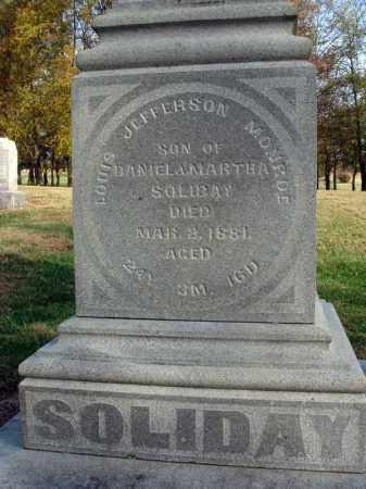 SOLIDAY, LOUIS JEFFERSON MONROE - Fairfield County, Ohio   LOUIS JEFFERSON MONROE SOLIDAY - Ohio Gravestone Photos