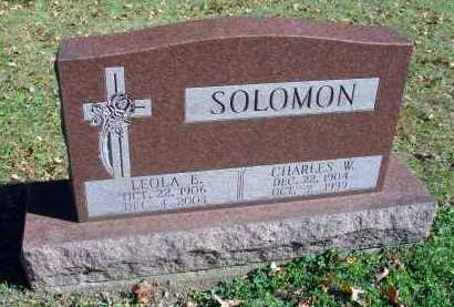 SOLOMON, CHARLES W. - Fairfield County, Ohio | CHARLES W. SOLOMON - Ohio Gravestone Photos
