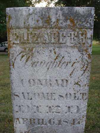 SOLT, ELIZABETH - Fairfield County, Ohio | ELIZABETH SOLT - Ohio Gravestone Photos