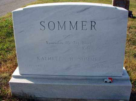 SOMMER, KATHLEEN H. - Fairfield County, Ohio | KATHLEEN H. SOMMER - Ohio Gravestone Photos