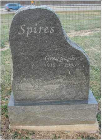 SPIRES, GEORGE E. - Fairfield County, Ohio | GEORGE E. SPIRES - Ohio Gravestone Photos