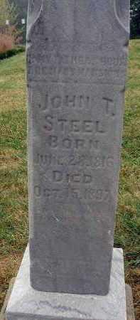 STEEL, JOHN T. - Fairfield County, Ohio   JOHN T. STEEL - Ohio Gravestone Photos