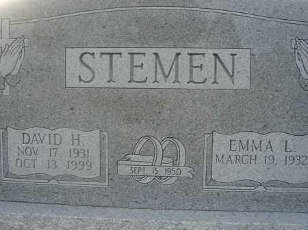 STEMEN, DAVID H. - Fairfield County, Ohio | DAVID H. STEMEN - Ohio Gravestone Photos