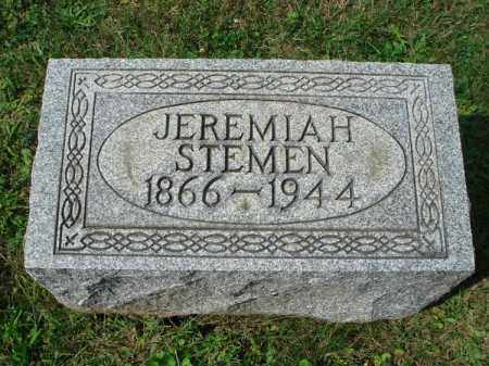 STEMEN, JEREMIAH - Fairfield County, Ohio | JEREMIAH STEMEN - Ohio Gravestone Photos