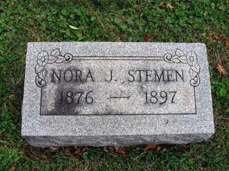 STEMEN, NORA J. - Fairfield County, Ohio   NORA J. STEMEN - Ohio Gravestone Photos