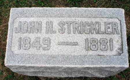 STRICKLER, JOHN H. - Fairfield County, Ohio | JOHN H. STRICKLER - Ohio Gravestone Photos
