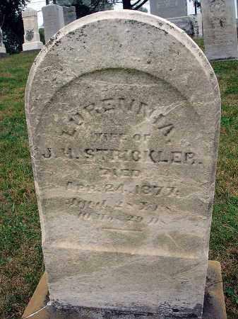 STRICKLER, LURENNIA - Fairfield County, Ohio | LURENNIA STRICKLER - Ohio Gravestone Photos