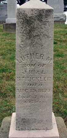 STRICKLER, LUTHER M. - Fairfield County, Ohio | LUTHER M. STRICKLER - Ohio Gravestone Photos