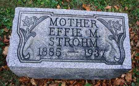 STROHM, EFFIE M. - Fairfield County, Ohio | EFFIE M. STROHM - Ohio Gravestone Photos