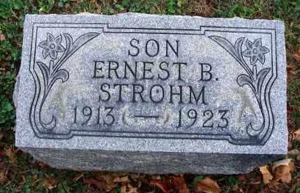STROHM, ERNEST B. - Fairfield County, Ohio | ERNEST B. STROHM - Ohio Gravestone Photos