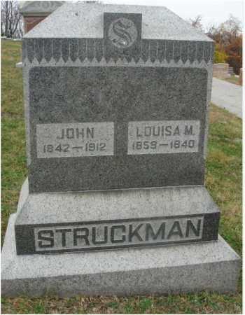 STRUCKMAN, JOHN - Fairfield County, Ohio | JOHN STRUCKMAN - Ohio Gravestone Photos
