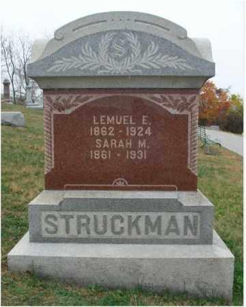 RUNKEL STRUCKMAN, SARAH M. - Fairfield County, Ohio | SARAH M. RUNKEL STRUCKMAN - Ohio Gravestone Photos