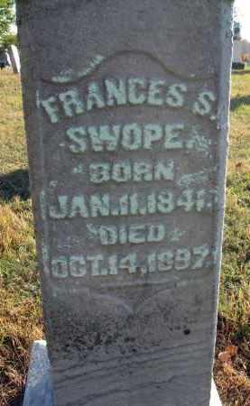 SWOPE, FRANCES S. - Fairfield County, Ohio | FRANCES S. SWOPE - Ohio Gravestone Photos
