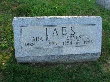 TAES, ERNEST L. - Fairfield County, Ohio | ERNEST L. TAES - Ohio Gravestone Photos