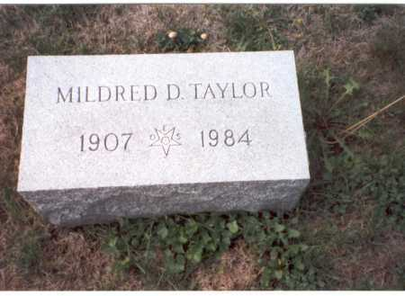 SALLEE TAYLOR, MILDRED D. - Fairfield County, Ohio | MILDRED D. SALLEE TAYLOR - Ohio Gravestone Photos