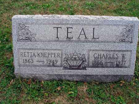TEAL, CHARLES W. - Fairfield County, Ohio | CHARLES W. TEAL - Ohio Gravestone Photos
