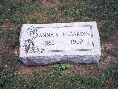CRUMM TEEGARDIN, ANNA S. - Fairfield County, Ohio | ANNA S. CRUMM TEEGARDIN - Ohio Gravestone Photos
