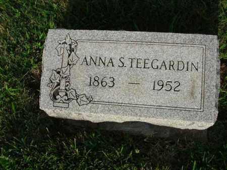 TEEGARDIN, ANNA S. - Fairfield County, Ohio | ANNA S. TEEGARDIN - Ohio Gravestone Photos