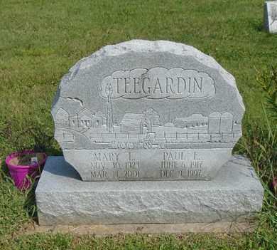 TEEGARDIN, MARY L - Fairfield County, Ohio   MARY L TEEGARDIN - Ohio Gravestone Photos