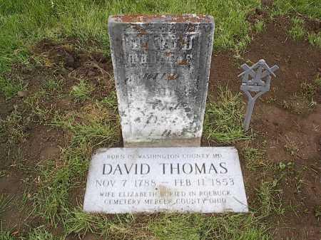THOMAS, DAVID - Fairfield County, Ohio   DAVID THOMAS - Ohio Gravestone Photos