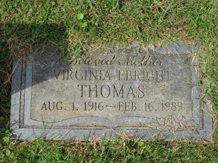 THOMAS, VIRGINIA - Fairfield County, Ohio | VIRGINIA THOMAS - Ohio Gravestone Photos