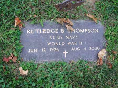 THOMPSON, RUTLEDGE B. - Fairfield County, Ohio | RUTLEDGE B. THOMPSON - Ohio Gravestone Photos