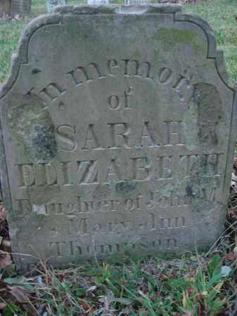 THOMPSON, SARAH ELIZABETH - Fairfield County, Ohio | SARAH ELIZABETH THOMPSON - Ohio Gravestone Photos