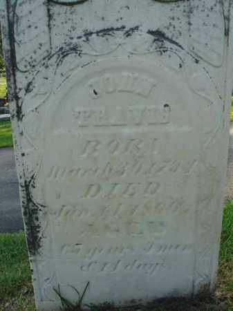 TRAVIS, JOHN - Fairfield County, Ohio | JOHN TRAVIS - Ohio Gravestone Photos