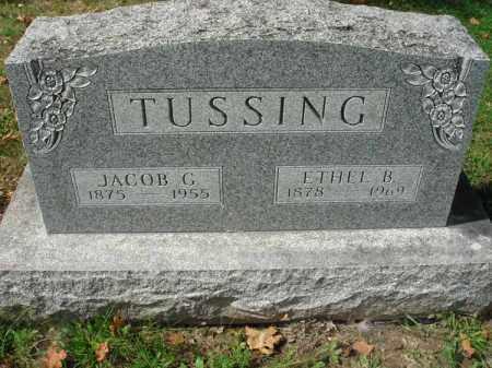 TUSSING, ETHEL B. - Fairfield County, Ohio | ETHEL B. TUSSING - Ohio Gravestone Photos