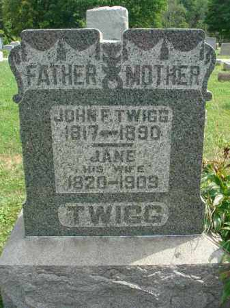 TWIGG, JANE - Fairfield County, Ohio | JANE TWIGG - Ohio Gravestone Photos