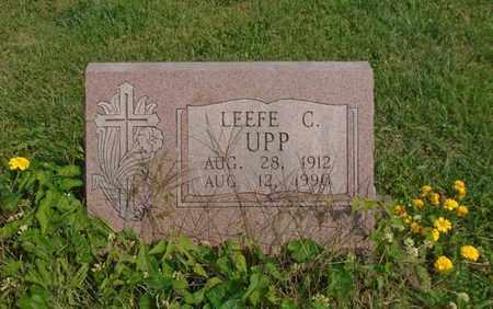 UPP, LEEFE C. - Fairfield County, Ohio   LEEFE C. UPP - Ohio Gravestone Photos