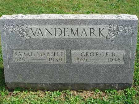 VANDEMARK, SARAH ISABELLE - Fairfield County, Ohio | SARAH ISABELLE VANDEMARK - Ohio Gravestone Photos