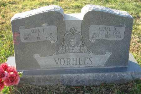 VORHEES, ORA E. - Fairfield County, Ohio | ORA E. VORHEES - Ohio Gravestone Photos