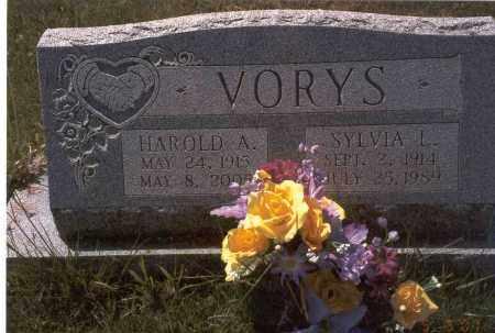 DARST VORYS, SYLVIA L. - Fairfield County, Ohio | SYLVIA L. DARST VORYS - Ohio Gravestone Photos