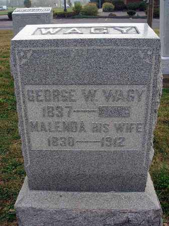 WAGY, MALENDA - Fairfield County, Ohio | MALENDA WAGY - Ohio Gravestone Photos