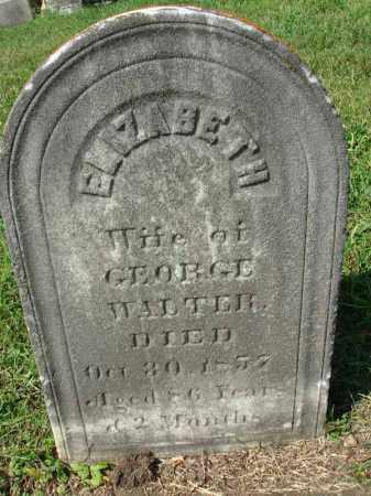 WALTER, ELIZABETH - Fairfield County, Ohio   ELIZABETH WALTER - Ohio Gravestone Photos