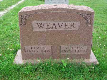WEAVER, BERTHA - Fairfield County, Ohio | BERTHA WEAVER - Ohio Gravestone Photos