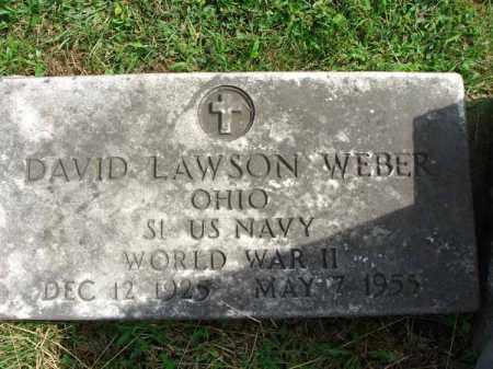 WEBER, DAVID LAWSON - Fairfield County, Ohio   DAVID LAWSON WEBER - Ohio Gravestone Photos