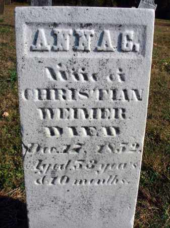 WEIMER, ANNA CATHARINE - Fairfield County, Ohio   ANNA CATHARINE WEIMER - Ohio Gravestone Photos