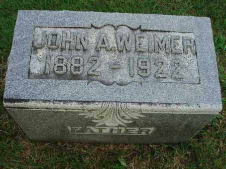 WEIMER, JOHN A. - Fairfield County, Ohio | JOHN A. WEIMER - Ohio Gravestone Photos