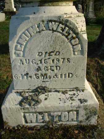 WELTON, JEMIMA - Fairfield County, Ohio   JEMIMA WELTON - Ohio Gravestone Photos