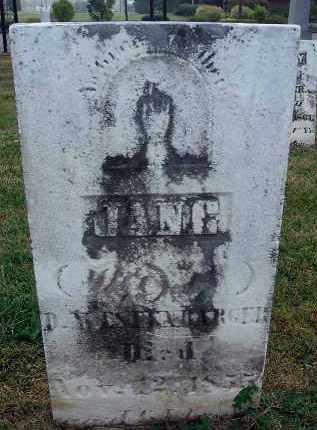 WESTENBARGER, JANE - Fairfield County, Ohio   JANE WESTENBARGER - Ohio Gravestone Photos
