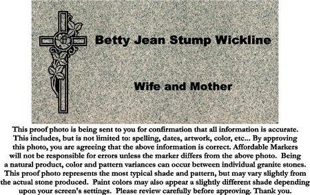 STUMP WICKLINE, BETTY JEAN - Fairfield County, Ohio | BETTY JEAN STUMP WICKLINE - Ohio Gravestone Photos