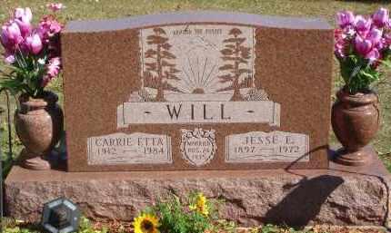 WILL, JESSE E. - Fairfield County, Ohio | JESSE E. WILL - Ohio Gravestone Photos