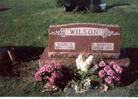 WILSON, RALPH D. - Fairfield County, Ohio | RALPH D. WILSON - Ohio Gravestone Photos