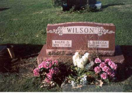 WILSON, REBECCA - Fairfield County, Ohio | REBECCA WILSON - Ohio Gravestone Photos