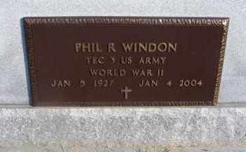 WINDON, PHIL R. - Fairfield County, Ohio   PHIL R. WINDON - Ohio Gravestone Photos