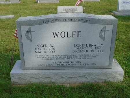 BRALEY WOLFE, DORIS I. - Fairfield County, Ohio | DORIS I. BRALEY WOLFE - Ohio Gravestone Photos