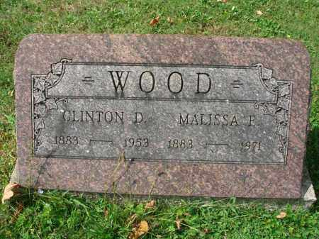 WOOD, CLINTON D. - Fairfield County, Ohio | CLINTON D. WOOD - Ohio Gravestone Photos