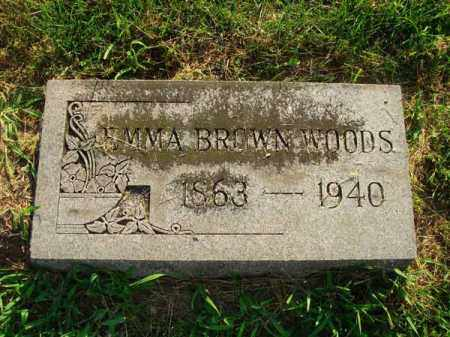 WOODS, EMMA - Fairfield County, Ohio   EMMA WOODS - Ohio Gravestone Photos